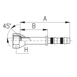 9101004 KOŃCÓWKA FLARA ŻEŃSKA FRIGOCLIC REFRIMASTER / PLUS 180° G8 DN10 13/32''