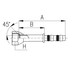 9101006 KOŃCÓWKA FLARA ŻEŃSKA FRIGOCLIC REFRIMASTER / PLUS 180° G10 DN13 1/2''