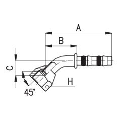 9101010 KOŃCÓWKA FLARA ŻEŃSKA FRIGOCLIC REFRIMASTER / PLUS 45° G6 DN8 5/16''