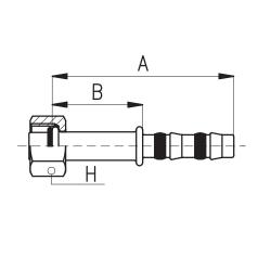 9102001 KOŃCÓWKA O-RING ŻEŃSKA FRIGOCLIC REFRIMASTER / PLUS 180° G6 DN8 5/16''