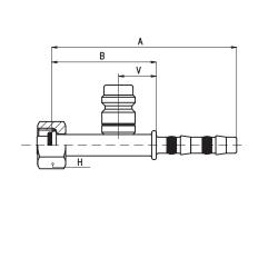9102016 KOŃCÓWKA O-RING ŻEŃSKA FRIGOCLIC REFRIMASTER / PLUS 180° G8 DN10 13/32'' + PORT SERWISOWY HP