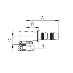 9102058 KOŃCÓWKA O-RING ŻEŃSKA BLOK FRIGOCLIC REFRIMASTER / PLUS 90° G10 DN13 1/2''