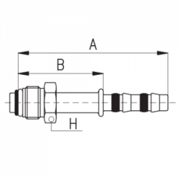 9102063 KOŃCÓWKA O-RING MĘSKA FRIGOCLIC REFRIMASTER / PLUS 180° G6 DN8 5/16''