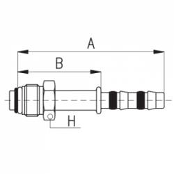 9102065 KOŃCÓWKA O-RING MĘSKA FRIGOCLIC REFRIMASTER / PLUS 180° G8 DN10 13/32''