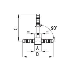 9102106 ZŁĄCZKA FRIGOCLIC REFRIMASTER / PLUS TYP T G12 - G12 - G12 DN16 5/8''