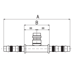 9102118 ZŁĄCZKA FRIGOCLIC REFRIMASTER / PLUS + PORT SERWISOWY HP 180° G6 DN8 5/16''