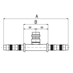 9102121 ZŁĄCZKA FRIGOCLIC REFRIMASTER / PLUS + PORT SERWISOWY HP 180° G12 DN16 5/8''