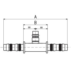 9102123 ZŁĄCZKA FRIGOCLIC REFRIMASTER / PLUS + PORT SERWISOWY LP 180° G12 DN16 5/8''