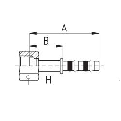 9103001 KOŃCÓWKA O-RING ROTALOCK ŻEŃSKA FRIGOCLIC REFRIMASTER / PLUS 180° G6 - G4 DN8 5/16''