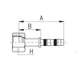 9103003 KOŃCÓWKA O-RING ROTALOCK ŻEŃSKA FRIGOCLIC REFRIMASTER / PLUS 180° G8 - G8 DN10 1/2''