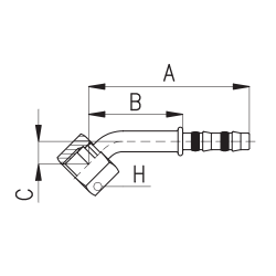 9103012 KOŃCÓWKA O-RING ROTALOC ŻEŃSKA FRIGOCLICK REFRIMASTER / PLUS 45° G10 - G10 DN13 1/2''