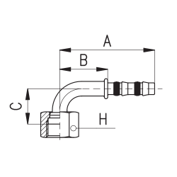 9103018 KOŃCÓWKA O-RING ROTALOCK ŻEŃSKA FRIGOCLIC REFRIMASTER / PLUS 90° G10 - G8 DN13 1/2''