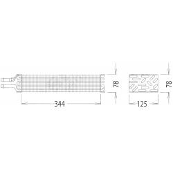 4500042 PAROWNIK KLIMATYZACJI 344X125X78 MM (400X125X78) BLOCK FLANSZA
