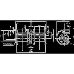 4015002 DMUCHAWA WENTYLATOR SPAL 015-A45-22 3 STOPNIE REGULACJI REZYSTOR RPA3VCB 12V 890 M3/H