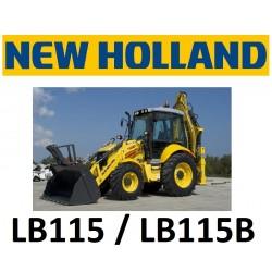 9551202 ZESTAW KLIMATYZACJI / KLIMATYZACJA DO KOPARKO-ŁADOWARKI NEW HOLLAND LB115 LB115B